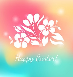 White floral ornament on colorful background vector image vector image