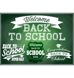 Retro labels badges for sales back to school vector