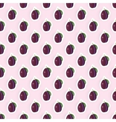 Seamless pattern background with plum fruit vector