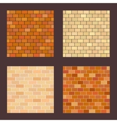 Set brick different color on dark background vector
