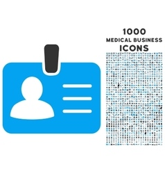 Person badge icon with 1000 medical business icons vector