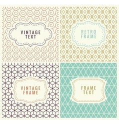 Minimal Background Retro Mono Line Frames with vector image