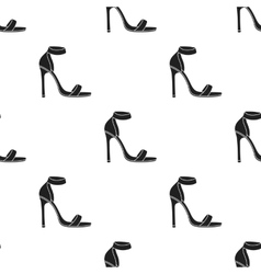 Ankle straps icon in black style isolated on vector image