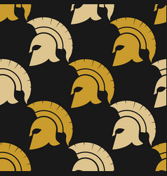 Spartan warriors seamless pattern vector