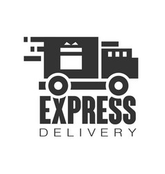 Express delivery logo design template black vector