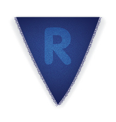 Bunting flag letter r vector