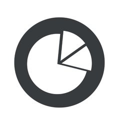 Monochrome round diagram icon vector
