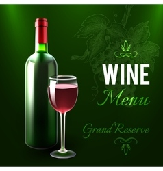 Wine Menu Template vector image