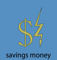 Saving money economy icon vector