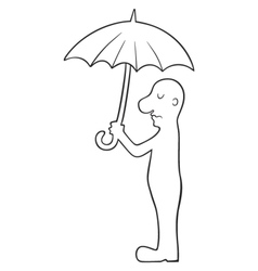 man under umbrella vector image