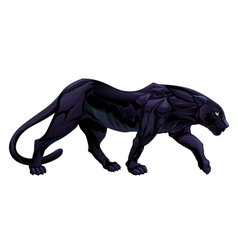 A black panther vector