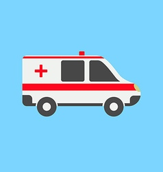 Ambulance car in flat style vector