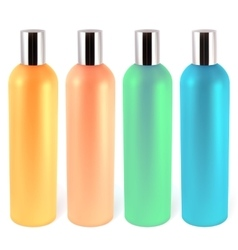 Shampoo bottles vector