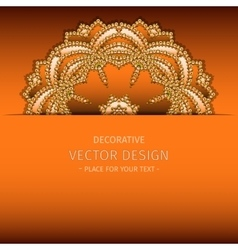 Abstract lacy ornament vector
