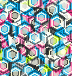 abstract rhombus color seamless with glass effect vector image