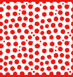 Abstract seamless spatter red pattern vector