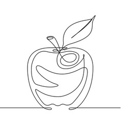 apple continuous line vector image vector image