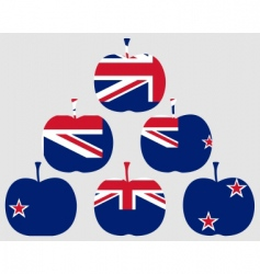 Apple from new zealand vector