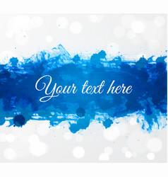 big bright blue grunge splash on white glowing vector image