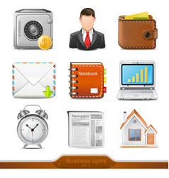 Businesss icons set 2 vector image vector image