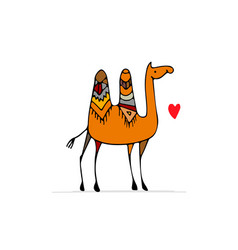 Camel sketch for your design vector