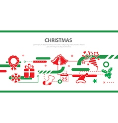 christmas banner flat design vector image vector image