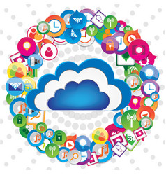 Cloud communication design vector
