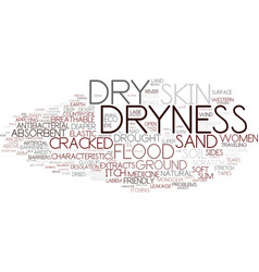 Dryness word cloud concept vector