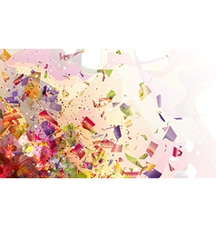 explosive abstraction vector image vector image