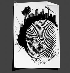 Finger mark vector