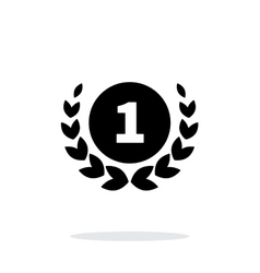 First place medal icon on white background vector
