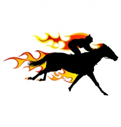 flame horse vector image vector image