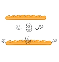 Funny cartoon french baguette bread vector