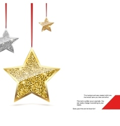 Glitter Background with Silver and Gold Hanging vector image vector image