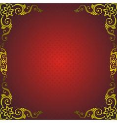 Golden royal frame vector