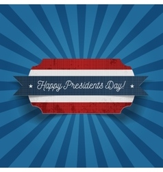 Happy Presidents Day greeting Card Template vector image