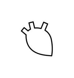 human heart icon on white background vector image