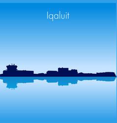 iqaluit skyline vector image vector image