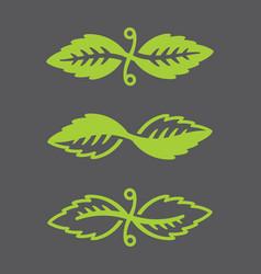 Leaf logos vector