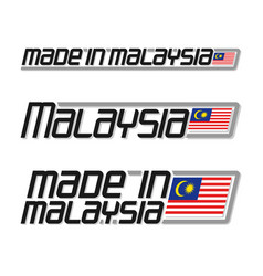 Made in malaysia vector