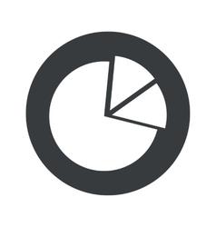Monochrome round diagram icon vector image vector image