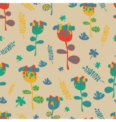 Seamless flower retro background pattern in vector image vector image