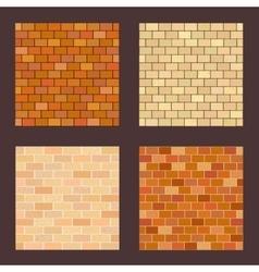 Set brick different color on dark background vector image vector image