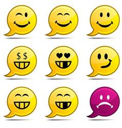 Smiley comics vector image