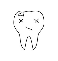 Teeth is bad icon vector