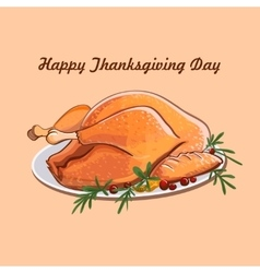 Thanksgiving day sale design vector image vector image