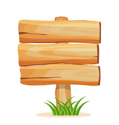 Wooden billboard for text icon vector