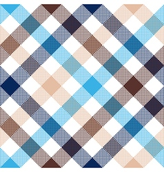 Blue beige diagonal check seamless fabric texture vector