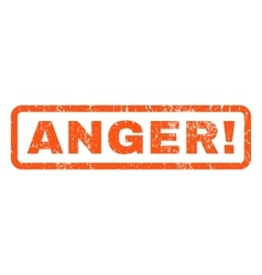 Anger rubber stamp vector