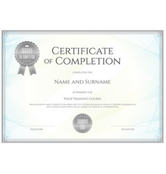 certificate template in for achievement vector image